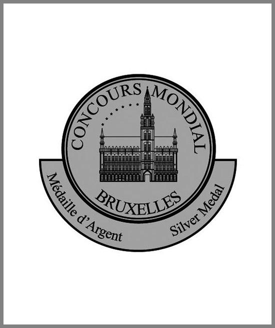 Concours Mondial de Bruxelles 2016 - Barolo 2012 Silver Medal